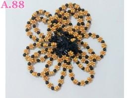 Gelang Tangan Kayu Bunga /lusin (A-9468)